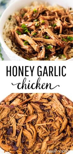 Slow Cooker Honey Chicken - One of my favorite crockpot chicken recipes that's quick, flavorful and absolutely delicious. This healthy crockpot chicken comes out perfectly tender every time! #chicken #chickenfoodrecipes #chickenrecipes #honey #garlic #slowcooker #slowcookerrecipes #crockpot #crockpotrecipes #dinner #dinnerrecipes #easyrecipe #iheartnaptime