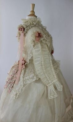 12 Piece Wedding Ensemble, Louise Loomis Burrell, Little Falls, NY from 1868