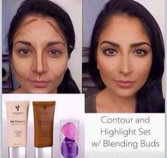 Loving this contouring effect with our BB creams & blending buds! Beautiful!! 100% natural hypoallergenic products, great for your skin!!  Www.youniqueproducts.com/JennyDyson