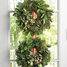 Double Stack - Festive Christmas Wreaths - Southern Living