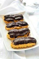 Cukormentes ekler recept Pancakes, Food And Drink, Low Carb, Gluten Free, Sweets, Sugar, Snacks, Cookies, Breakfast
