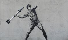 Banksy fête lui aussi les Jeux Olympiques de Londres sur skeuds.com