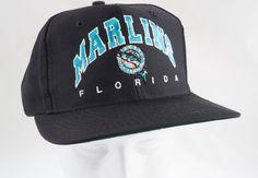 Vintage Florida Marlins MLB Baseball Snapback Drew Pearson Chalk Line Hat Cap #ChalkLine #FloridaMarlins