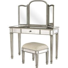 WANTTT!  From Pier 1 Imports  Hayworth vanity, and bench (w/out mirror) by tracey
