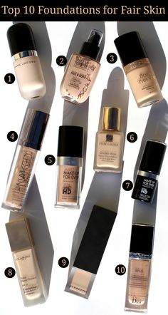 Top 10 Foundations for Fair Skin