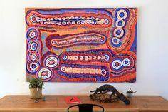 Murdie Nampijinpa Morris, Malikijarra Jukurrpa, 182x122cm - Art Ark Aboriginal… Aboriginal Artwork, Australian Art, Indigenous Art, Pattern Art, Color Schemes, Tapestry, Texture, Ark, Instagram Posts