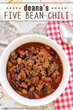 Deana\'s Five Bean Chili