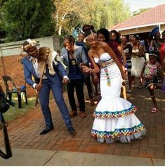 South African Wedding 01 – South African Wedding Tagged at muzzikuminfo. South African Wedding Dress, African Traditional Wedding Dress, African Wedding Attire, Traditional Wedding Attire, South African Weddings, African Attire, Traditional Outfits, Zulu Traditional Attire, Nigerian Weddings