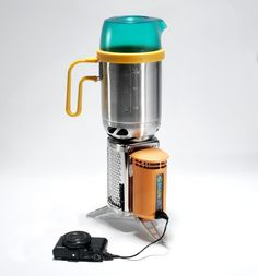 Biolite Stove: This camping stove makes it easy to cook with a handful of twigs — and it charges your gadgets too. Newly added are the grill and kettle attachments. Every one you buy subsidizes R&D on a tougher, low-emission version of the stove for the developing world. - $130 | Biolite Stove