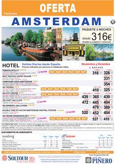 Amsterdam (Holanda) Avión + Hotel, salidas diarias desde toda España - Noviembre y Diciembre - http://zocotours.com/amsterdam-holanda-avion-hotel-salidas-diarias-desde-toda-espana-noviembre-y-diciembre/