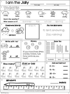 December Second Grade Morning Work (Differentiated) Sequencing Worksheets, Fractions Worksheets, 2nd Grade Worksheets, School Worksheets, Printable Worksheets, Morning Activities, Bell Work, Second Grade Math, Morning Work