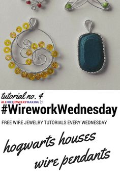 Harry Potter fans will love this DIY jewelry tutorial. #WireworkWednesday