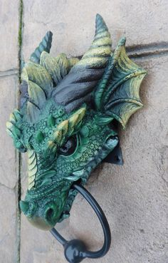 GOTHIC DRAGON HEAD DOOR KNOCKER - AMAZING! in Collectables, Fantasy/Myth/Magic, Mythical Creatures | eBay