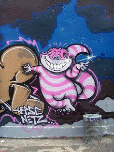 Cheshire Cat, street art  Cologne, 2009