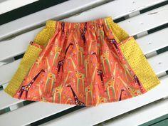 CUSTOM ORDER for Raye  Standing Tall Giraffe Skirt by LahDiDoo