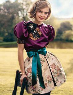 Emma Watson in European Vintage Dress.