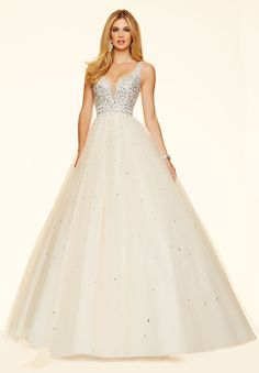 Wishesbridal Ivory Straps #Tulle Ball Gown #PromDress Cpa0199