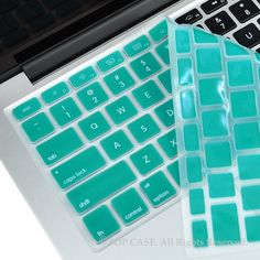 "TopCase AQUA BLUE Silicone Keyboard Cover Skin for Macbook 13"" Unibody / Macbook Pro 13"" 15"" 17"" with or without Retina Display / New Macbook Air 13"" / Wireless Keyboard"