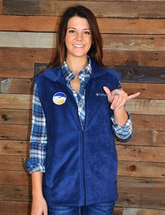 Stay warm and cozy this winter while showing your school spirit in this great Columbia vest. Who doesn't love Georgia Southern? GATA!