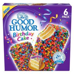 Good Humor Birthday Cake Ice Cream Bar 6 pack from Target. Saved to Food. Shop more products from Target on Wanelo. Cake Bars, Dessert Bars, Dessert Food, Dessert Ideas, Good Humor Ice Cream, Ice Cream Birthday Cake, Novelty Birthday Cakes, Zucchini Cake, Snack Recipes