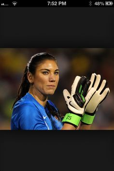 Hope Solo- Best women's goalie ever seen by the USA women's national soccer team.