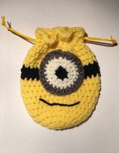 Crochet Minion Pouch I made.