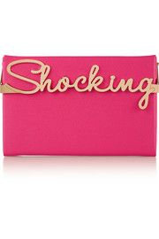 Charlotte Olympia Shocking Vanina textured-leather box clutch