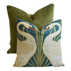 26 x 26 Square Floor Pillow Kess InHouse Rosie Brown Bloom Blue Purple Mixed Media