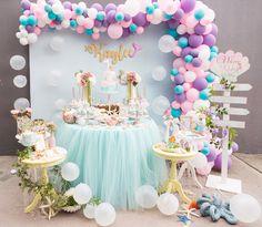 Pastel Mermaid Birthday Party on Kara's Party Ideas | KarasPartyIdeas.com (7)