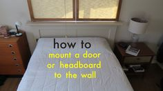 Here's an easy way to attach a headboard or beautiful old door to the wall using a french cleat. When you build a headboard yourself or if your using an old ...
