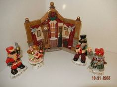 Kurt-Adler-NUTCRACKER-SUITE-backdrop-and-4-figures-HTF