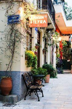 A pretty street in Nafplio, Peloponnese, Greece