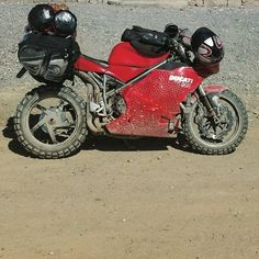 Around the world on a 998! Ducati 998, Ducati Superbike, Custom Cafe Racer, Scrambler, Motorbikes, Cafe Racers, Vehicles, Trucks, Cars