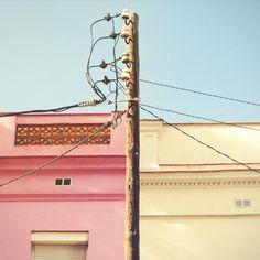 sky, pink, ecru, wood - Color Hunting Barcelona