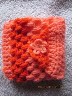 Crochet puff stitch coin purse