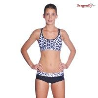 5b03a078d589c6 Dragonfly limited edition leopard print sports bra and pants pole wear set.  Workout Wear