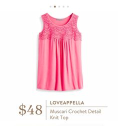 Stitch Fix: Loveappella Muscari Crochet Detail Knit Top - LOVE this brand and this color!