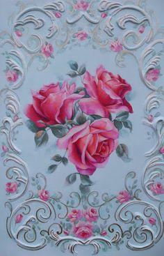 Papel com Rosas