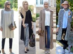 long cardigans hijab looks