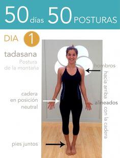 ૐ YOGA ૐ ૐ ASANAS ૐ  ૐ Tadasana ૐ   50 días 50 posturas. Día 1. Postura de la…