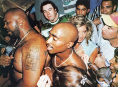 2Pac and the first time I've seen Suge Knight with his shirt off!