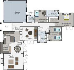 Rakaia 3 bedroom house plans Landmark Homes builders NZ