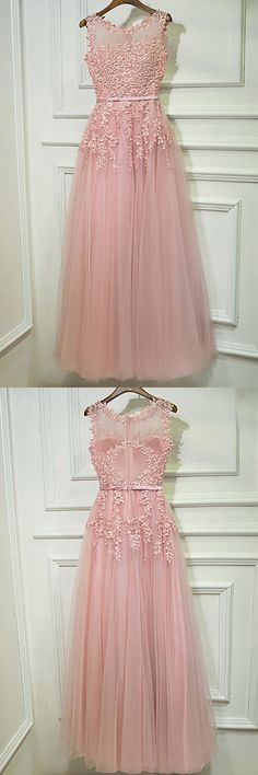 Only $109, Prom Dresses Gorgeous Pink Tulle Prom Dress Long With Lace Sleeveless #MYX18104 at #GemGrace. View more special Bridal Party Dresses,Prom Dresses,Homecoming Dresses now? GemGrace is a solution for those who want to buy delicate gowns with affordable prices, a solution for those who have unique ideas about their gowns. 2018 new arrived, shop now to get $10 off! #partydress