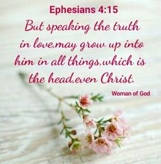 Ephesians 4, Serve The Lord, Motivational Words, Speak The Truth, Godly Woman, Inspirational Message, Reign, Christ, Messages