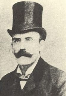 This is from a great Blog, Murder by Gaslight. Dr Thomas Neill Cream was one of the few men from Chicago suspected of being Jack the Ripper. He was a serial killer, abortionist and poisoner. He looked just like Snidely Whiplash, so you know he's a villain. Hell, just look at the top hat, cool moustache and monocle, pure evil!!