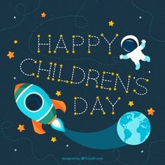 Children are the best creation of god, they spread joy in every season. Happy Children's Day! Happy Children's Day, Happy Kids, Child Day, Logo Templates, Create Yourself, Custom Design, Images, Photos, Diy Projects