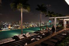 Infinity pool. Singapore