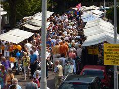 Jaarmarkt tijdens dorpsfeest Santpoort