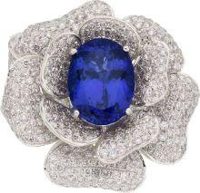 Tanzanite, Diamond, White Gold Ring, M. Christoff. ... (Total:   Lot #58061   Heritage Auctions