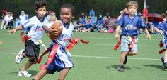 Sports offers youth sports leagues, camps & clinics with a focus on fun & safety. We aim to help kids succeed in life through youth sports. Youth Flag Football, Tackle Football, Football Program, Games For Boys, Perfect Game, Kids Playing, Have Fun, Children, Sports